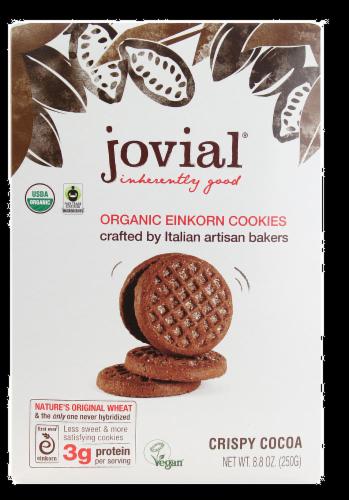 Jovial Organic Crispy Cocoa Einkorn Cookies Perspective: front