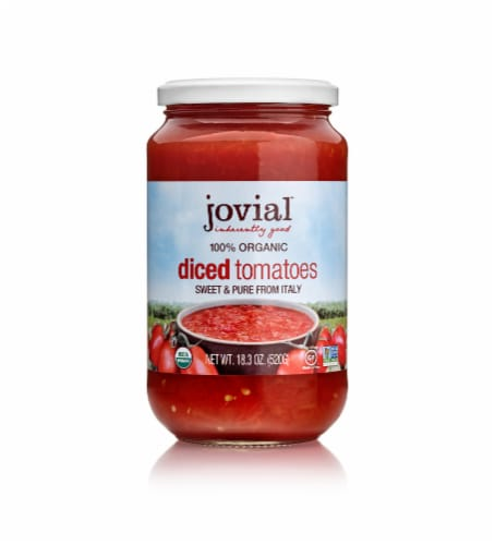 Jovial Organic Diced Tomatoes Perspective: front