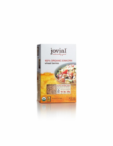 Jovial 100% Organic Einkorn Wheat Berries Perspective: front