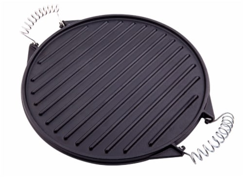 Victoria Wire Handles Cast Iron Round Reversible Griddle Perspective: front