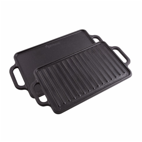 Victoria Cast Iron Reversible Griddle Perspective: front