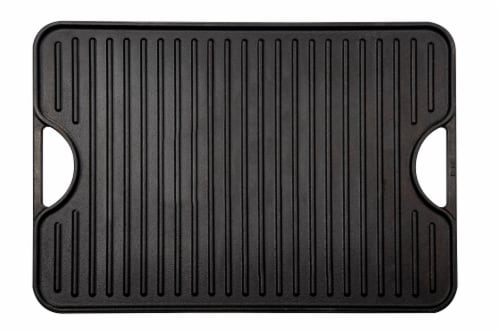 Victoria Cast Iron Rectangular Reversible Griddle Perspective: front