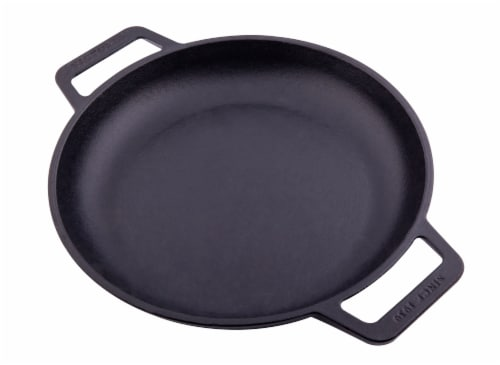 Victoria Double Loop Handles Cast Iron Skillet Perspective: front