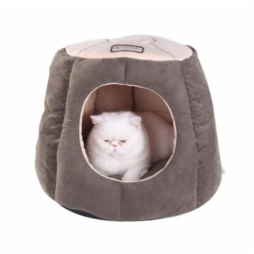 AeroMark C30HML-MH Armarkat Cat Bed, Laurel Green and Beige C30HML-MH Perspective: front