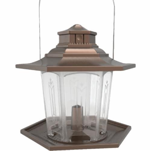 Stokes Select SureFill No Spill Bronze Plastic Lantern Bird Feeder 107 Perspective: front