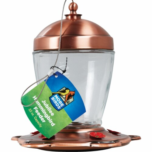 Classic Brands 33 Copper Jubilee Hummingbird Feeder Perspective: front