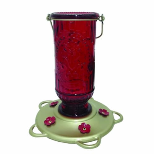 Classic Brands Vintage Hummingbird Feeder 20 Ounce Red 60 Perspective: front