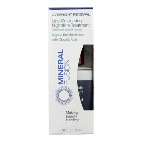 Mineral Fusion Overnight Renewal Line-Smoothing Nighttime Treatment  - 1 Each - 1 OZ Perspective: front