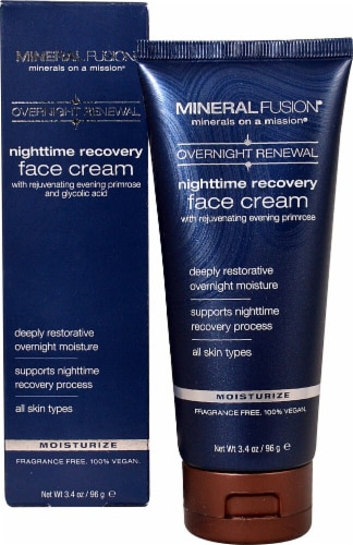 Mineral Fusion  Overnight Renewal Nighttime Recovery Face Cream Perspective: front