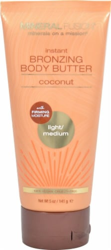 Mineral Fusion  Instant Bronzing Body Butter Light/Medium Coconut Perspective: front