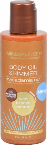 Mineral Fusion Macadamia Nut Bronze Body Oil Shimmer Perspective: front