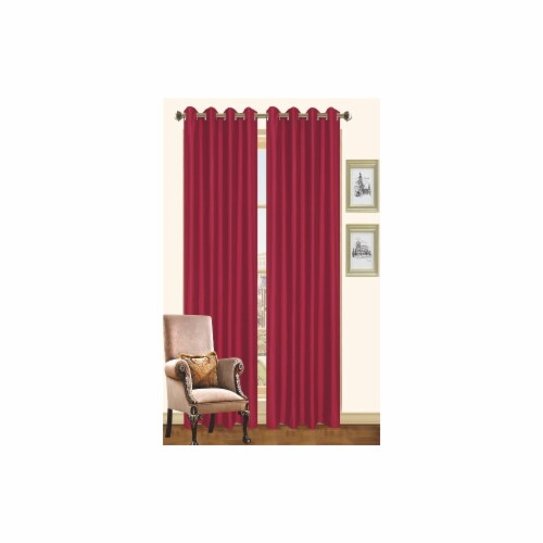 Kashi Home CP019966 57 x 90 In. Holly - Faux Silk Curtain Panel - Cinnamon, Pack of 2 Perspective: front