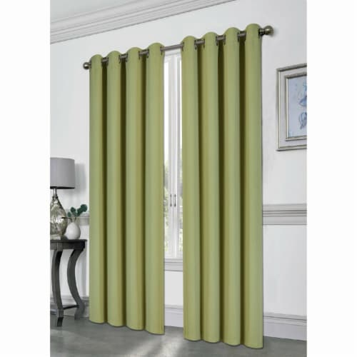 Kashi Home CP051416 54 x 84 in. Tessa Grommet Blackout Curtain, Sage Perspective: front