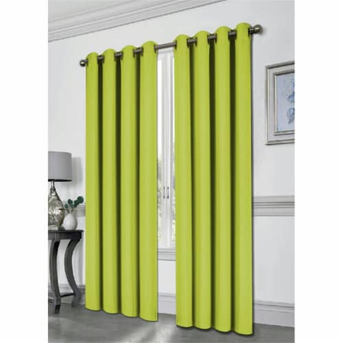 Kashi Home CP051447 54 x 84 in. Tessa Grommet Blackout Curtain, Lime Perspective: front