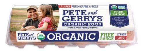 Pete and Gerry's Organic Free Range Large Eggs Perspective: front