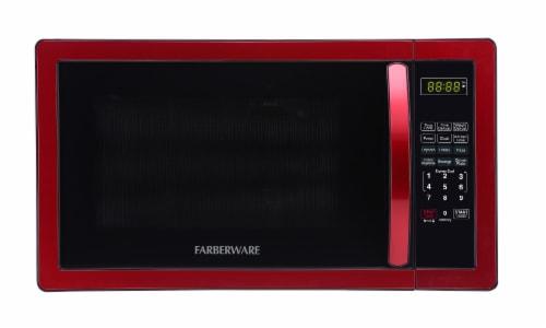 Farberware Classic 1000-Watt Microwave Oven - Metallic Red Perspective: front