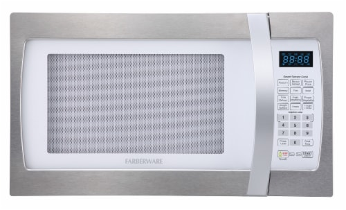 Farberware Professional 1100-Watt Microwave Oven - White / Platinum Perspective: front