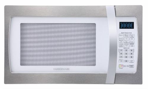 Farberware Professional 1100-Watt Microwave Oven - White / Platinum Perspective: front