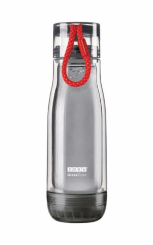 Zoku 16 oz. Gray BPA Free Water Bottle - Case Of: 1; Each Pack Qty: 1; Perspective: front