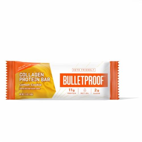 Bulletproof Lemon Cookie Collagen Protein Bar Perspective: front