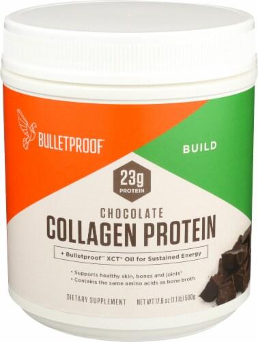 Bulletproof Chocolate Collagen Protein Powder Perspective: front