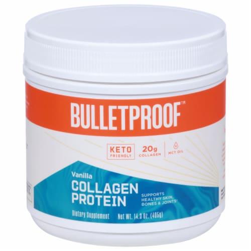 Bulletproof Vanilla Collagen Protein Powder Perspective: front