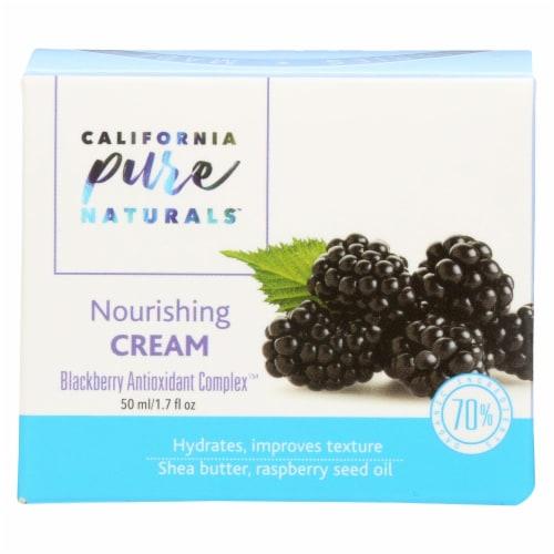 California Pure Naturals Blackberry Antioxidant Complex Nourishing Cream Perspective: front