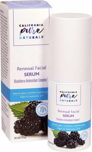 California Pure Naturals Blackberry Antioxidant Complex Renewal Facial Serum Perspective: front