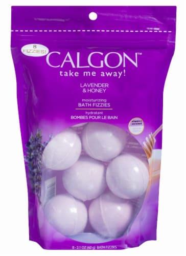 Calgon Lavender & Honey Moisturizing Bath Fizzies Perspective: front