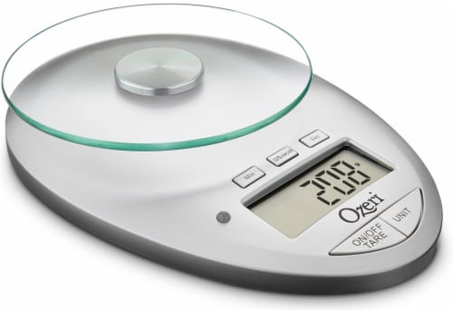 Ozeri Pro II Digital Kitchen Scale with Removable Glass Platform and Kitchen Timer Perspective: front