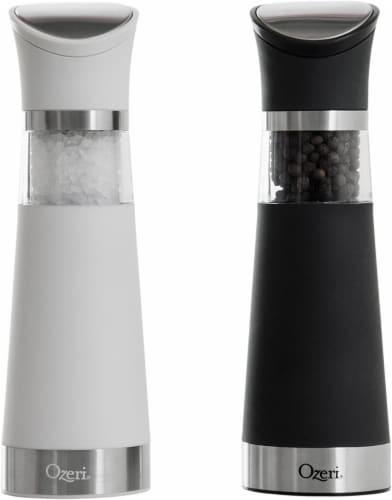Ozeri Graviti Pro Electric Salt and Pepper Grinder Set, BPA-Free Perspective: front