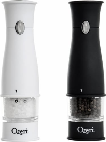 Ozeri Artesio Electric Salt and Pepper Grinder Set, BPA-Free Perspective: front