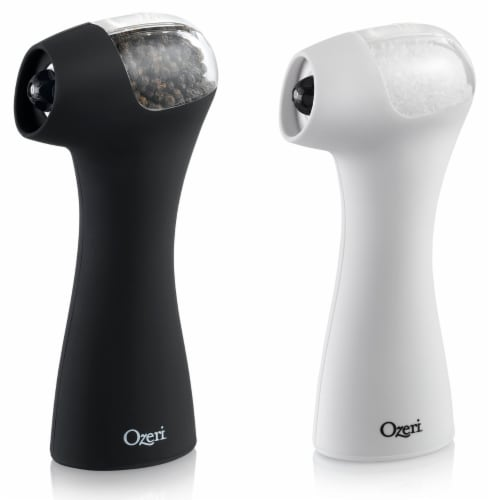Ozeri Graviti Pro II Electric Salt and Pepper Grinder Set, BPA-Free Perspective: front