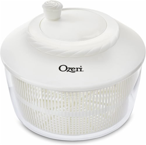Ozeri Italian Made Fresca Salad Spinner and Serving Bowl, BPA-Free Perspective: front