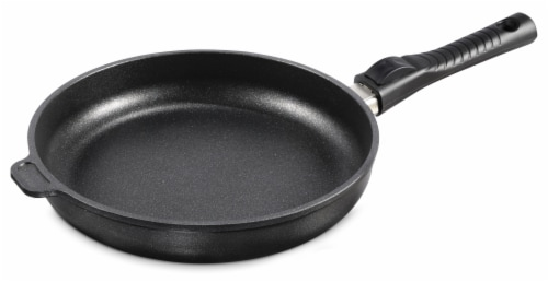 """Ozeri Professional Series 10"""" Hand Cast Ceramic Earth Fry Pan, Removable Handle, Made in DE Perspective: front"""