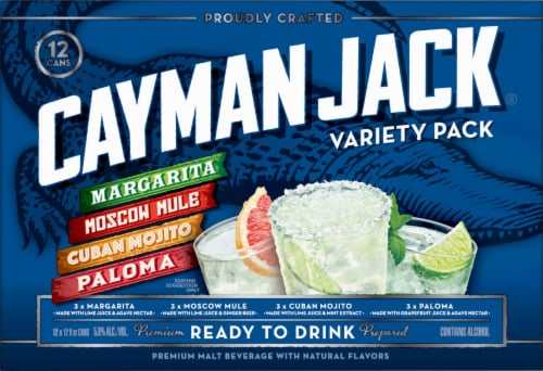 Cayman Jack Cocktails Variety Pack Perspective: front