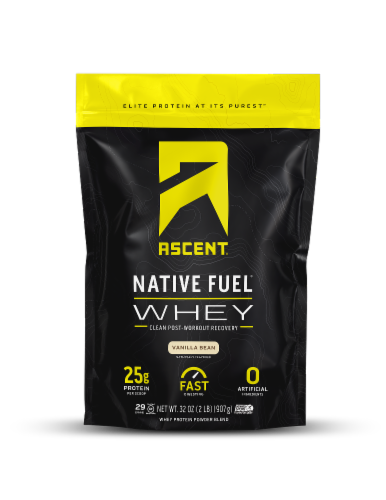 Ascent Native Fuel Vanilla Bean Whey Protein Powder Perspective: front