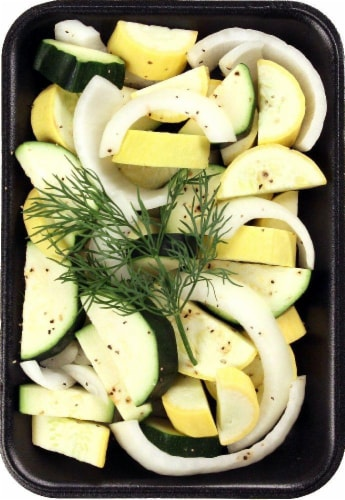 Fresh Kitchen Seasoned Squash Onion & Dill Perspective: front