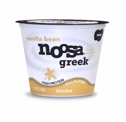 Noosa Vanilla Bean Blended Greek Yogurt Perspective: front