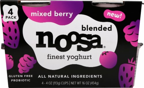 Noosa Mixed Berry Blended Yogurt Perspective: front
