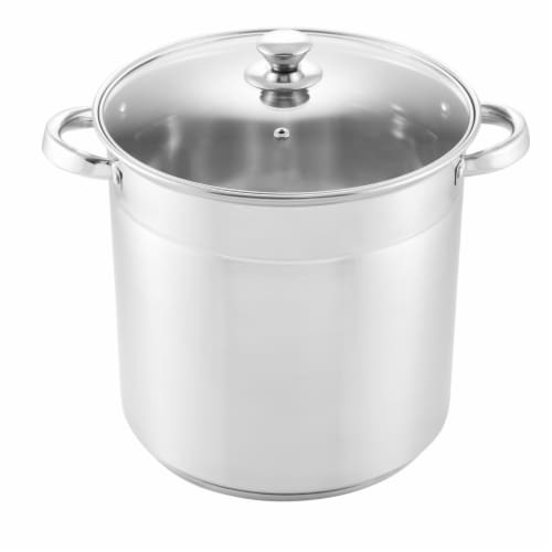 McSunley Stockpot - Stainless Steel Perspective: front
