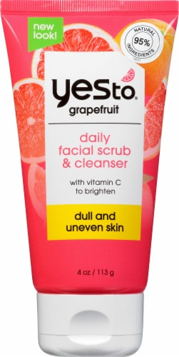 Yes To Grapefruit Daily Facial Scrub & Cleanser Perspective: front