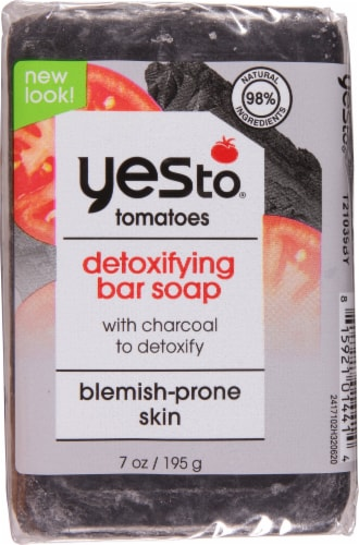 Yes To Tomatoes Clear Skin Activated Charcoal Bar Soap Perspective: front