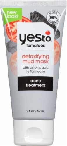 Yes To Tomatoes Clear Skin Acne Detoxifying Charcoal Mud Mask Perspective: front