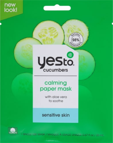 Yes To Cucumbers Soothing Calming Paper Mask Perspective: front