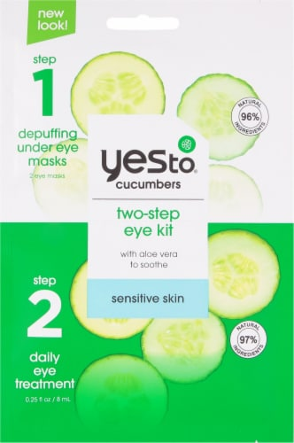 Yes To Cucumbers Soothing 2-Step Single Use Eye Kit Perspective: front