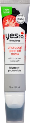 Yes To Tomatoes Clear Skin Detoxifying Charcoal Peel-Off Mask Perspective: front