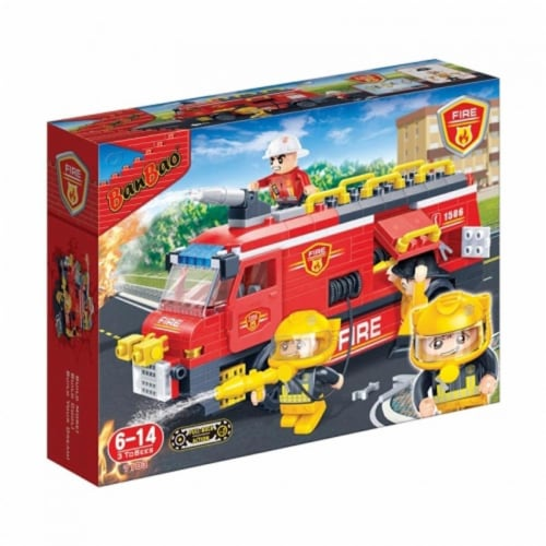 BanBao Interlocking Blocks Fire Engine 7103 (288 Pcs) Perspective: front