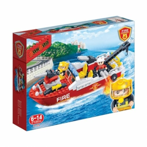 BanBao Interlocking Blocks Fire Boat 7105 (198 Pcs) Perspective: front