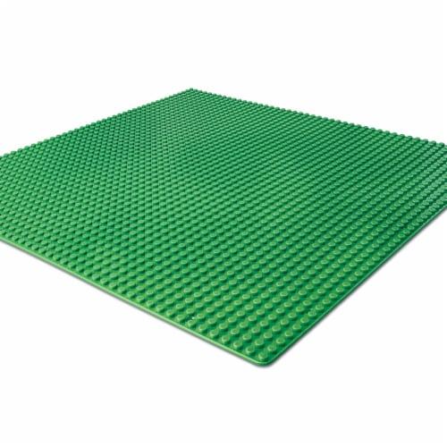 "BanBao Interlocking Blocks Large Green Basic Plate 8492 15"" x15"" Perspective: front"